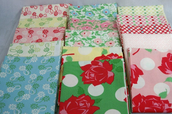 OOP-15 FQ - Swell Urban chicks-Roses are Red-Blue-Pink-Apple green-Polka dots-Moda-urban chiks