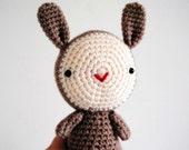 Smiley, bunny Amigurumi ready to ship
