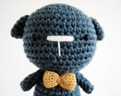 Blue Dog, hand-crocheted toy, amigurumi, ready to ship