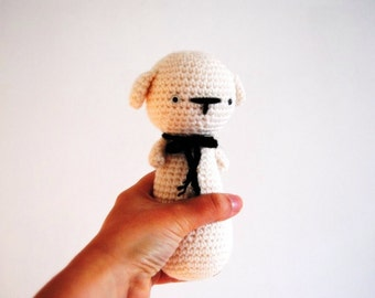 Oscar the Dog, hand-crocheted toy, amigurumi, ready to ship