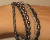 Multi black gemstone bracelet by Beloved Pearl SALE 30 percent off