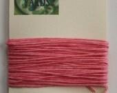 5 Yards Pink 4 ply Irish Waxed Linen Thread