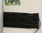 5 Yards Dark Chocolate 4 ply Irish Waxed Linen Thread