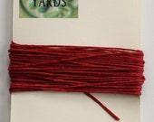 5 Yards Red 4 ply Irish Waxed Linen Thread