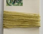 5 Yards Yellow 4 ply Irish Waxed Linen Thread