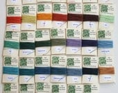 You Pick 10 Colors (5 yds each) Of 4 ply Irish Waxed Linen Thread (50 Yards)