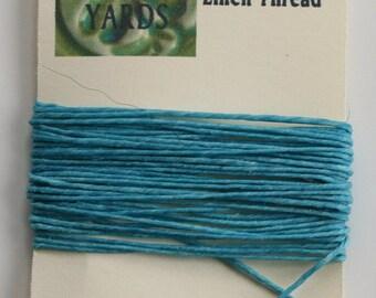 5 Yards Turquoise 4 ply Irish Waxed Linen Thread