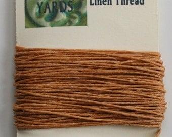10 Yards Butterscotch 4 ply Irish Waxed Linen Thread