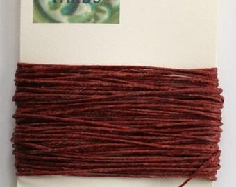 10 Yards Dark Rust 4 ply Irish Waxed Linen Thread