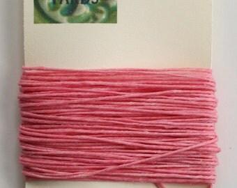 10 Yards Pink 4 ply Irish Waxed Linen Thread