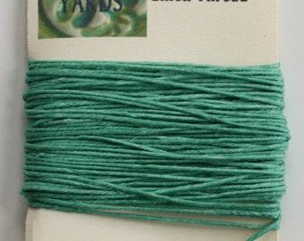 10 Yards Sage 4 ply Irish Waxed Linen Thread