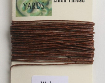 5 yrds Walnut 4 ply Irish Waxed Linen Thread