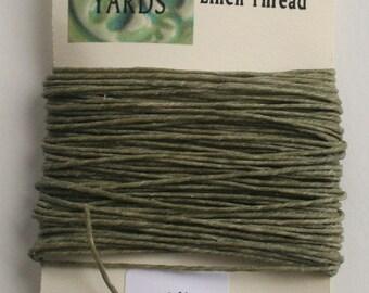 10 yrds Olive 4 ply Irish Waxed Linen Thread