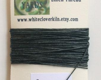 5 Yards 4 Ply Charcoal Grey Irish Waxed Linen Thread