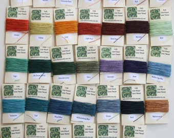 You Pick 10 Colors (10 yds each) of 4 ply Irish Waxed Linen Thread (100 Yards)