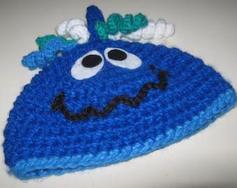 Boys Friendly Monster Hat in Blue