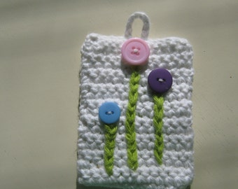 Spring Day Gadget Case in White Cotton