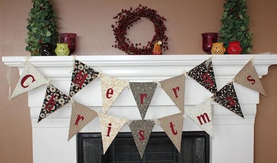 Merry Christmas Pennant Banner