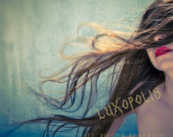 woman with her hair blowing in the wind