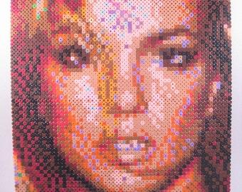 Perler Portrait - Britney Spears - PORTFOLIO CLEARANCE!