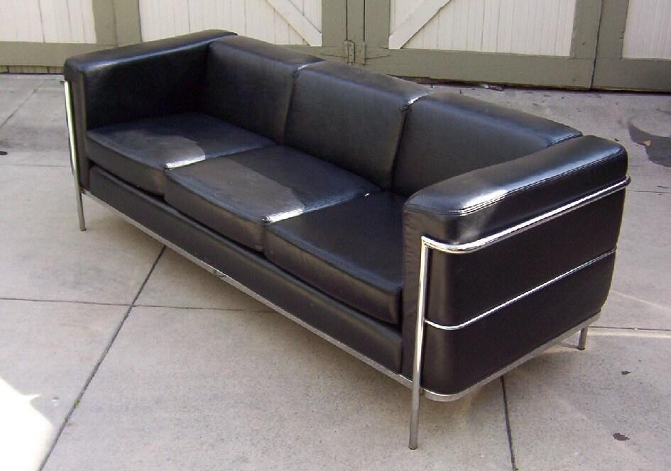 vintage retro streamline moderne chrome sofa. Black Bedroom Furniture Sets. Home Design Ideas
