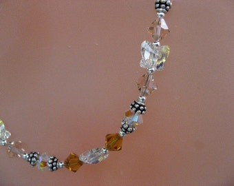 Butterfly Swarovski Crystal Necklace and Earrings