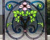 French Dogwood Stained Glass Panel - Custom