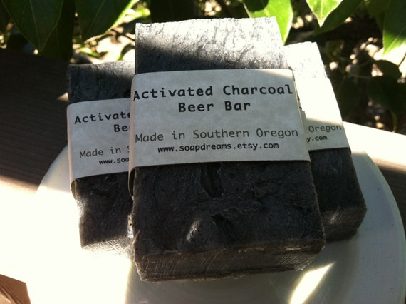 Bamboo Activated Charcoal Beer Soap