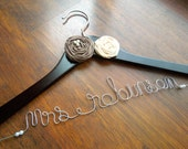 Personalized Bridal Hanger, Custom Wedding Dress Hanger, for Bride, a lovely gift for Bridesmaid or Graduate