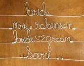 Personalised Bridal Hanger Wedding dress Hanger for Bride Bridesmaids Gift Bridal Shower.