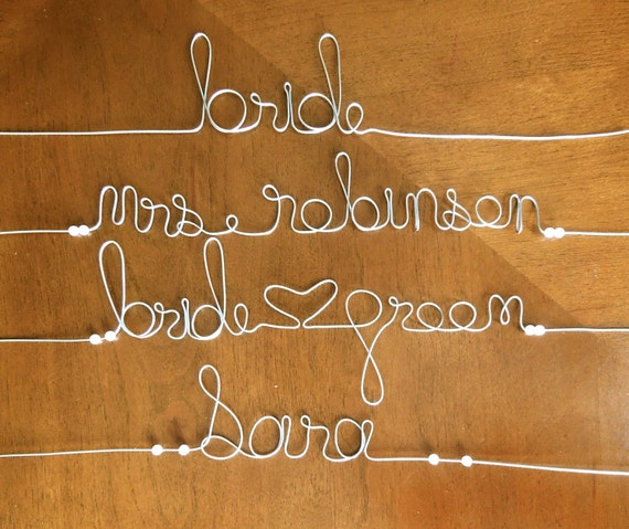 Personalised Bridal Hanger Wedding dress Hanger for Bride Bridesmaids Gift Bridal Shower.