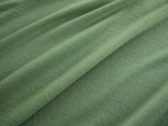 Merino Wool Jersey Fabric Light Weight Fresh Leaf By
