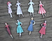 40s and 50s Fashion Model collection