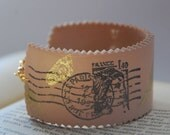 Cuff bracelet Postcards from Paris and free earrings