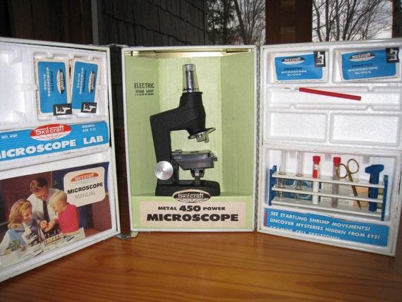 Vintage Skilcraft Microscope Lab