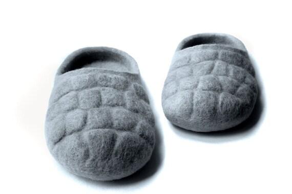 ECO Felted slippers / grey / men's / silver / platinum / haze / slate