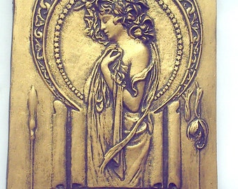 Mucha lady wall decor