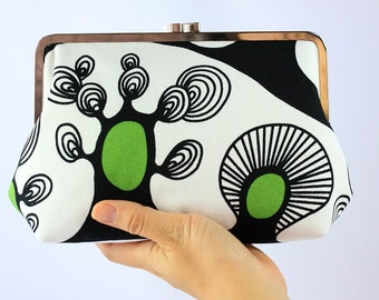 the Spring Little Tree - Large Kisslock Frame Clutch / Everyday Clutch - the Agnes Style Clutch