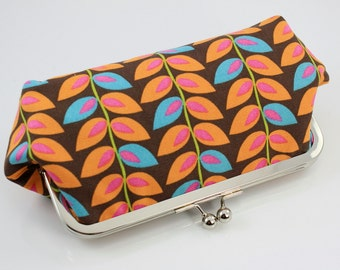 Autumn Leaves Kisslock Frame Clutch / Wedding Gift - the Emma Style Clutch