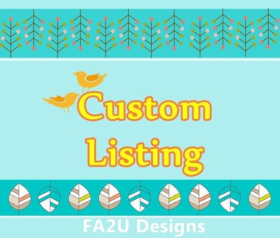 Custom Listing for Elizabeth Schumann (lizzys05)