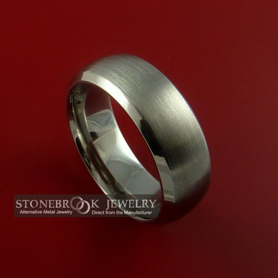 Titanium Wide Wedding Band Classic Engagement Rings Made to Any Sizing 3-22