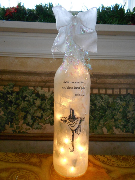 Wine bottle light - Love one another