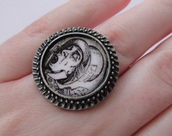 Alice in Wonderland Mad Hatter Ring - Adjustable