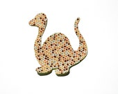 FREE SHIPPING---Dinosaur Iron On or Sew On Applique---Pick Your Fabric