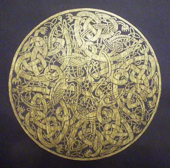 Celtic Circle A Brass Rubbing Taken From A Medieval Design