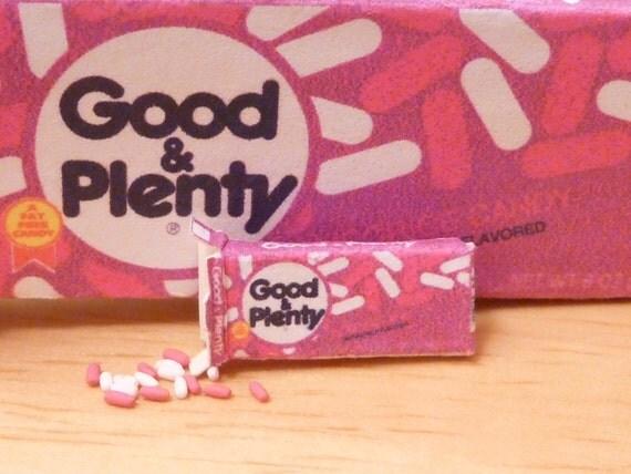 Miniature Dollhouse Box of Good and Plenty Licorice Candy