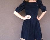 SALE.........SaILOR GIRL Navy Blue Corduroy Dress