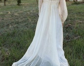 Vintage 1930's BOHO Cream/Ivory Wedding Gown With Train