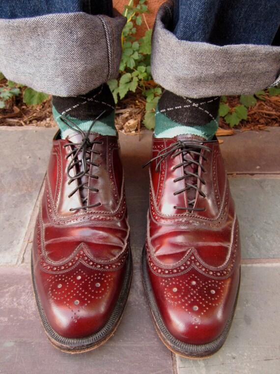 Vintage Men's FLORSHEIM Wingtip Shoes HENRY MILLER
