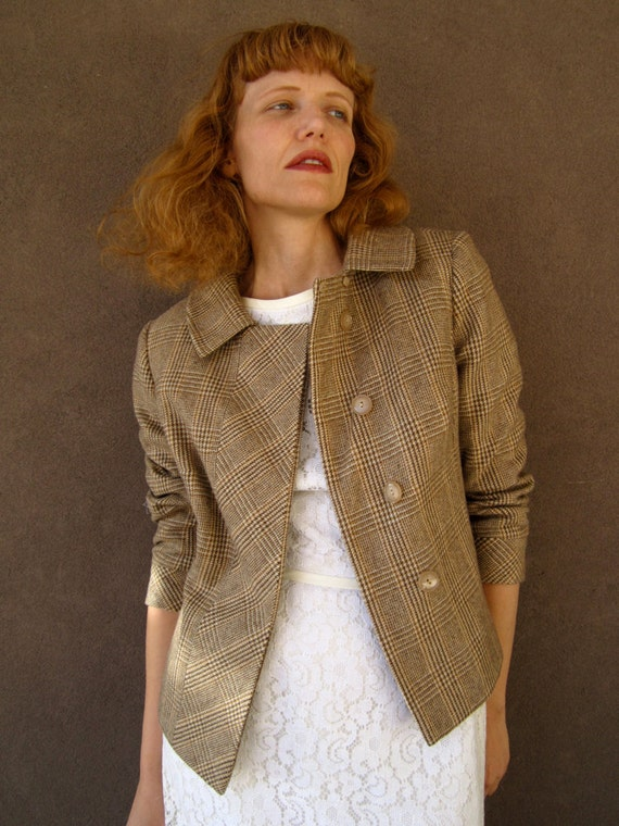 1960's Brown Tweed CASHMERE Mod Jacket THE CHRISTY